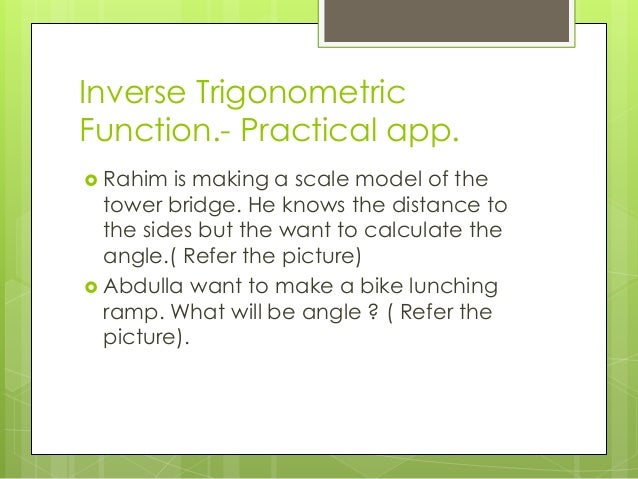 core data relationship inverse trigonometric functions