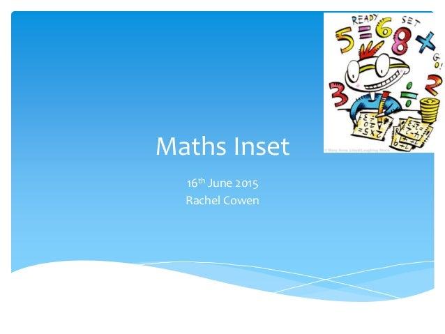 Maths inset june 2015 multiplication