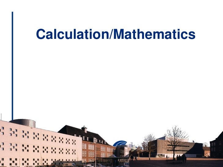 Calculation/Mathematics