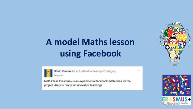 A model Maths lesson using Facebook
