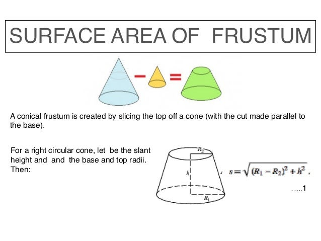 how to make frustum of a cone