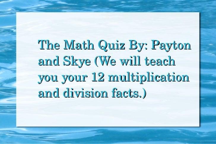Math slide show