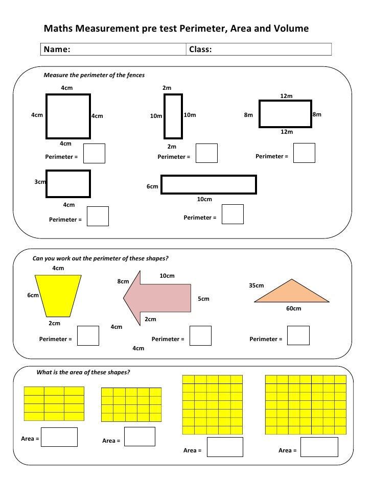 area and perimeter test pdf