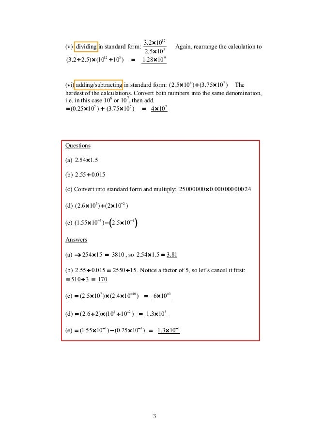 Maths Revision Notes Igcse