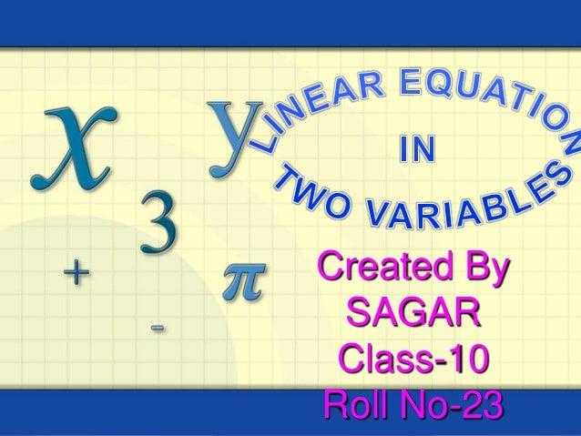 Created By SAGAR Class-10 Roll No-23