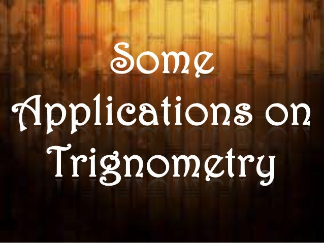 What is Trignometry? Trigonometry is a branch of mathematics that studies triangles and the relationships between their si...
