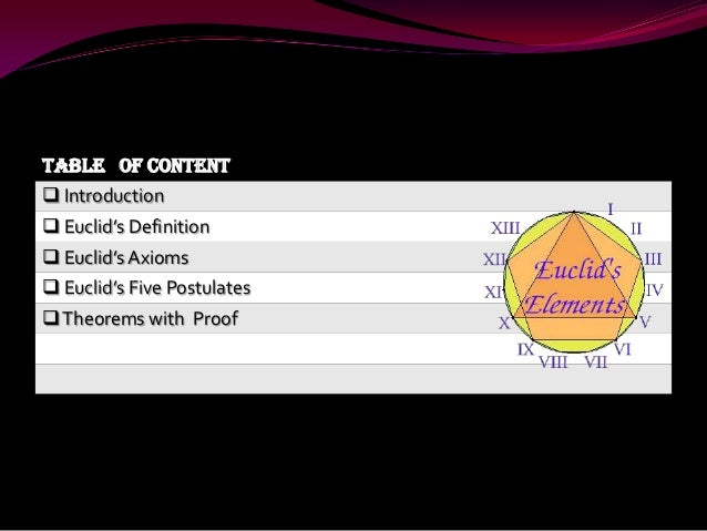 Mathematics Euclid's Geometry - My School PPT Project