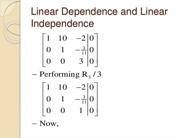how to find if a set is linearly independent