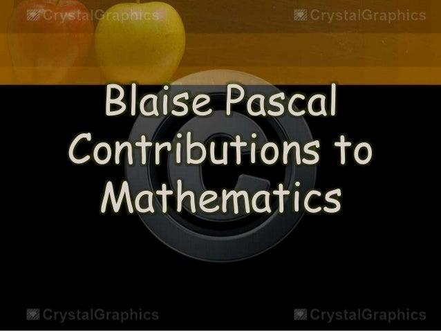 pascal contributions