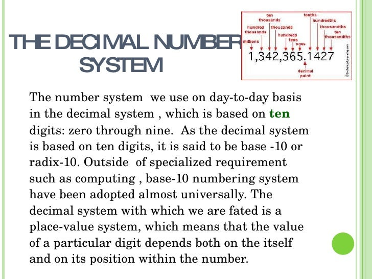 Essay number system