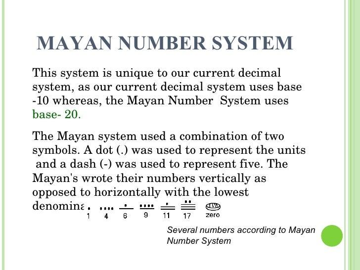 Number System – Mayan Math Worksheet