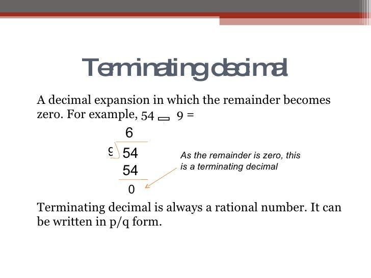 Worksheets Decimal Definition With Example number system 27 terminating decimal