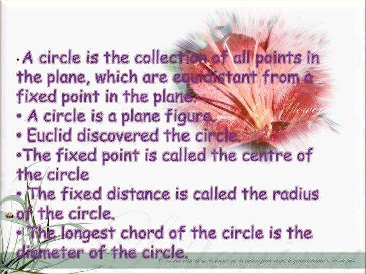 maths ppt on circles