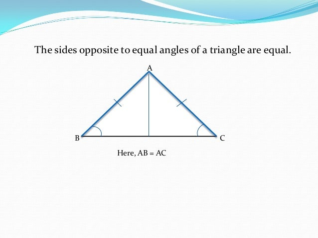 Ppt On Triangles Class 9
