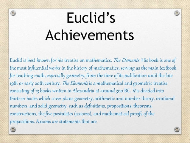 the most influential work of euclid the mathematician One of the world's most influential math texts is getting a beautiful, minimalist edition new by greek mathematician euclid around 300 bce and.