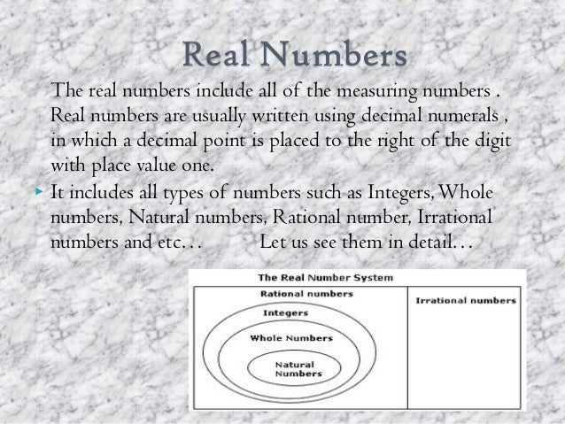 number system school ppt ninth class