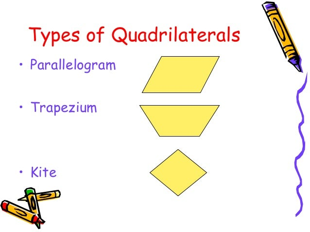 Mathsproject quadrilaterals types of quadrilaterals parallelogram trapezium kite ccuart Image collections