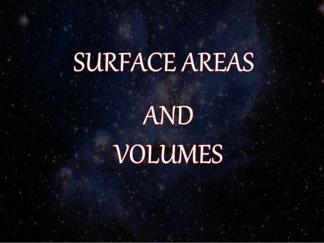 Surface Area And Volume Slide 2