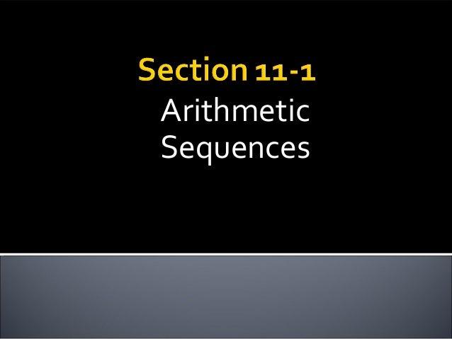 ArithmeticSequences