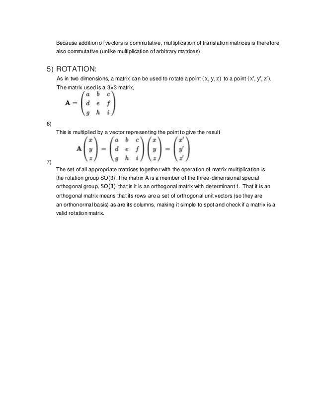 transvection matrix