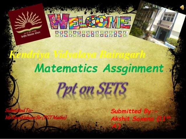 Discrete mathematics unit i. Set theory sets and subsets a well.