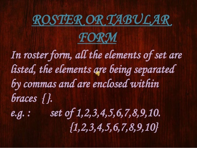 tabular form meaning