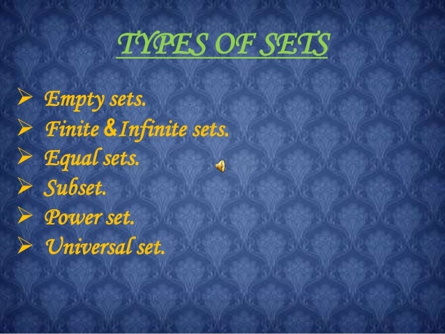 Maths Sets Ppt