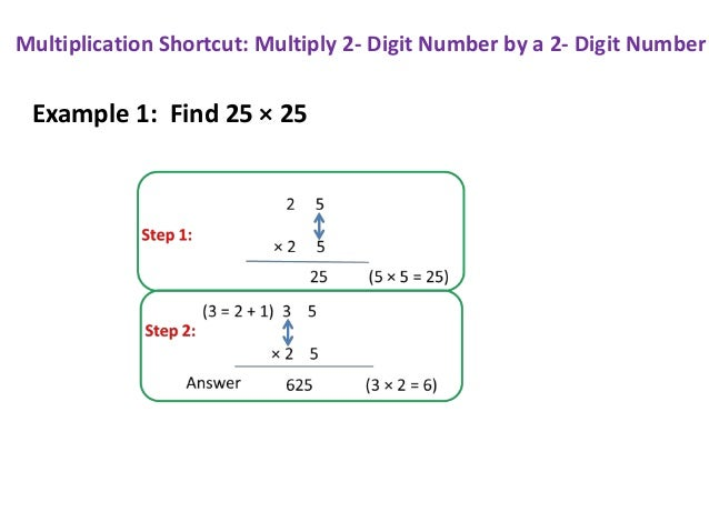 Number Names Worksheets multiply 3 digit by 2 digit : Multiplication Shortcut: Multiply two 2- Digit Numbers