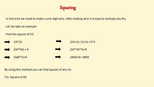 Maths Short Tricks : How to multiply & find square of any