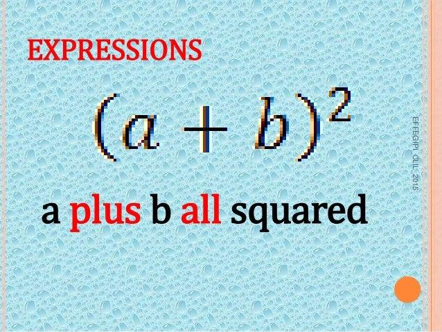 Maths talk 1.0