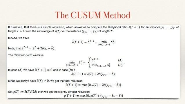 The CUSUM Method
