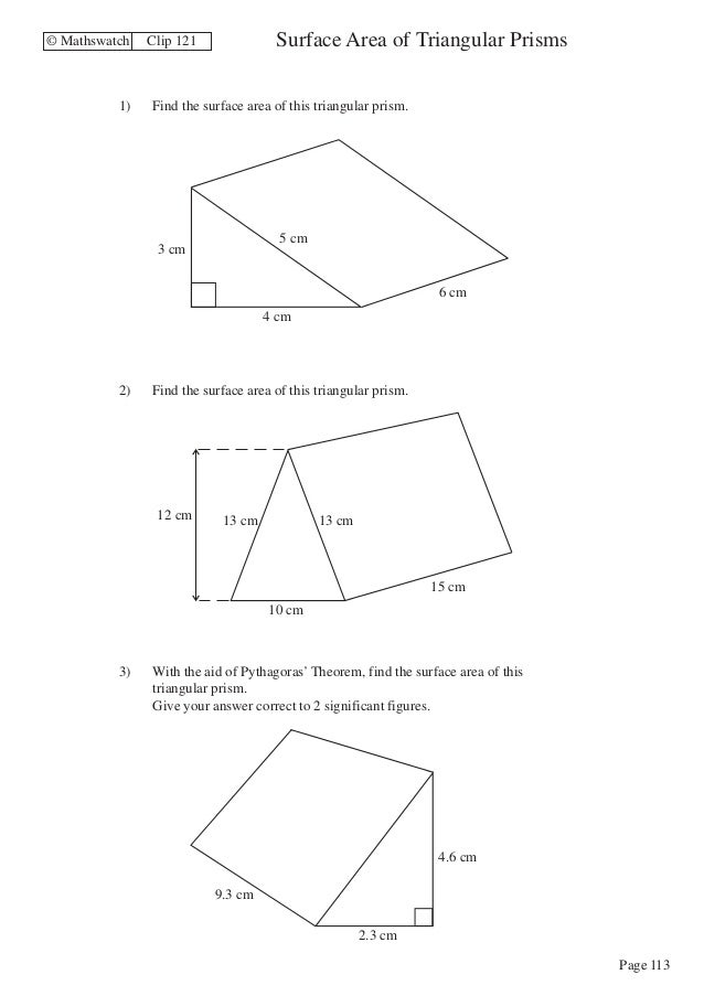 Maths Higher worksheets – Area of Complex Figures Worksheet