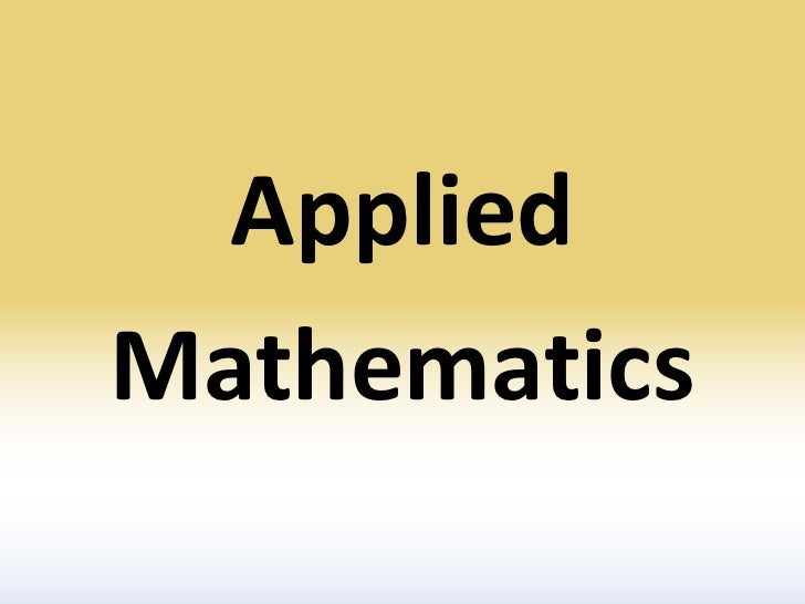 Thinking of a Career in Applied Mathematics? | SIAM