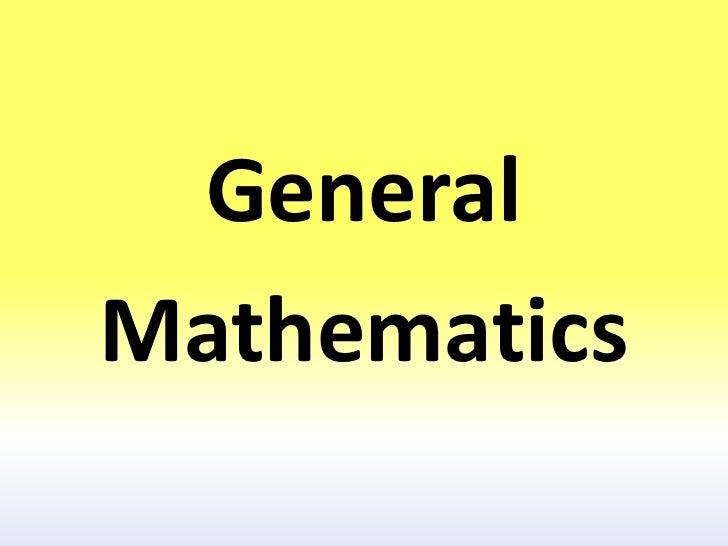 GeneralMathematics