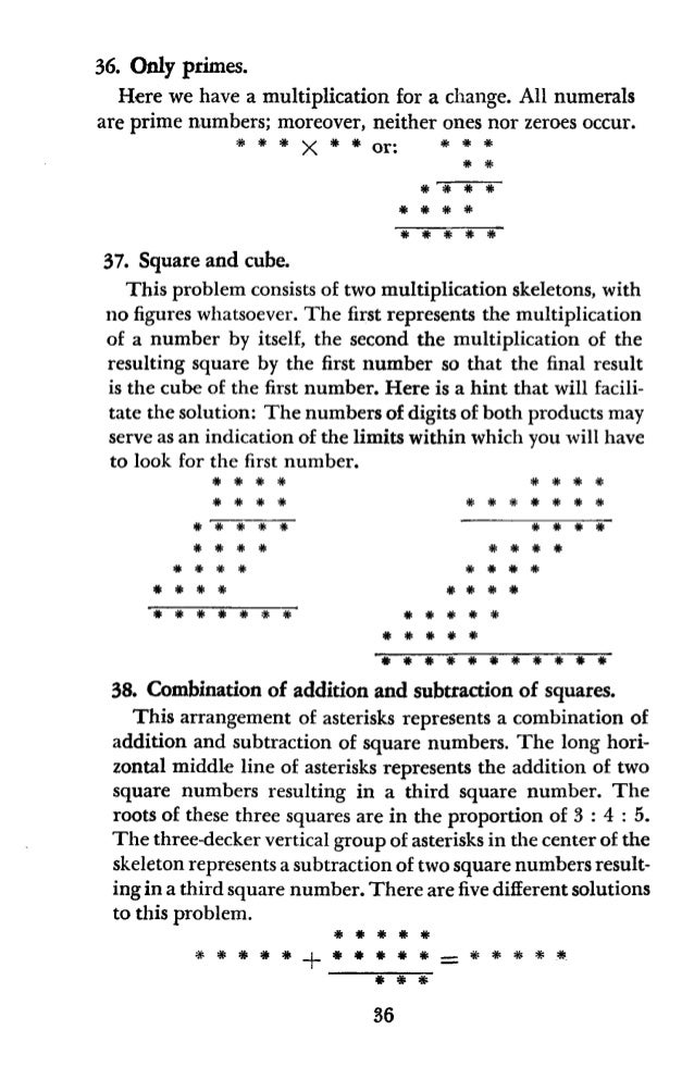 CHAPTER IV CRYPTOGRAMS Nobody knows how many times the frantic message, Send More Money, has been wired. There is nothing ...