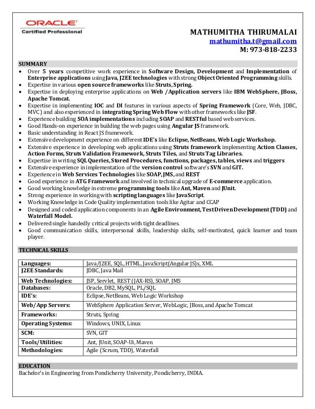 Mathumitha Thirumalai resume