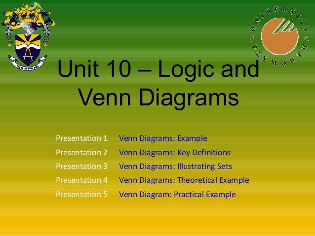 Math Unit10 Logic And Venn Diagrams