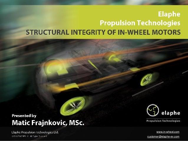 ©2018 ELAPHE Ltd. - All Rights Reserved. www.in-wheel.com customer@elaphe-ev.com
