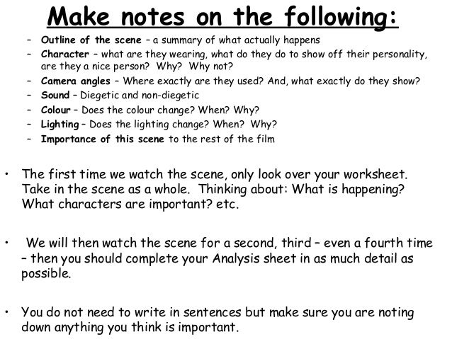 S12 film study of Matilda – Film Study Worksheet