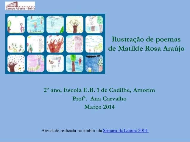 Ilustração de poemas de Matilde Rosa Araújo 2º ano, Escola E.B. 1 de Cadilhe, Amorim Profª. Ana Carvalho Março 2014 Ativid...