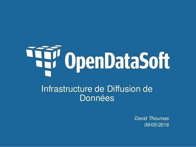 Infrastructure de Diffusion de Données David Thoumas 09/05/2016