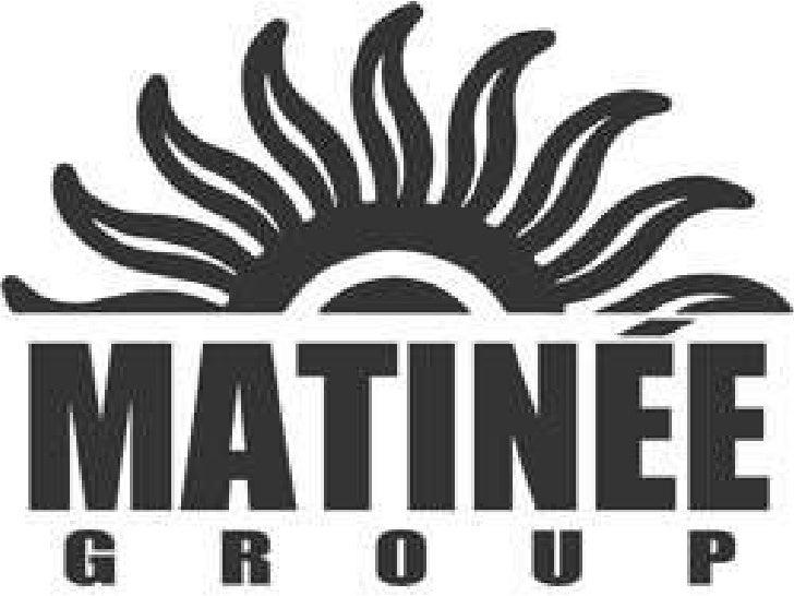¡¡Matinée Group!!Matinée Group és un grup promotor desdeveniments nocturnscatalà. És la principal promotora del sector a C...