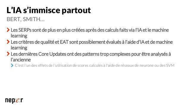 La trilogie E-A-T Expertise Le contenu d'une page de qualité montre un niveau d'expertise élevé Un contenu rédigé par un e...