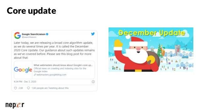 Scoring des passages sur Google https://www.blog.google/products/se arch/search-on/ Date de lancement : inconnue Impact : ...