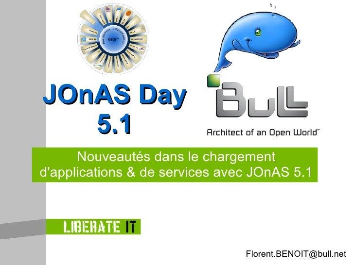 Nouveautés dans le chargement d'applications & de services avec JOnAS 5.1 JOnAS Day 5.1 [email_address]