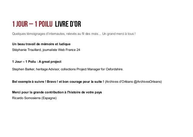 Le projet social media 1 Jour - 1 Poilu