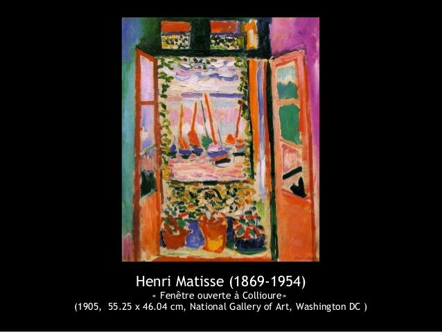 Henri matisse 1869 1954 for Matisse fenetre ouverte