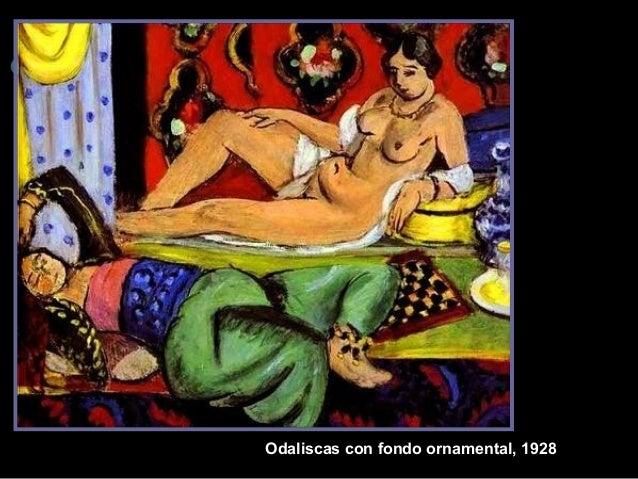 Odaliscas con fondo ornam ental, 1928