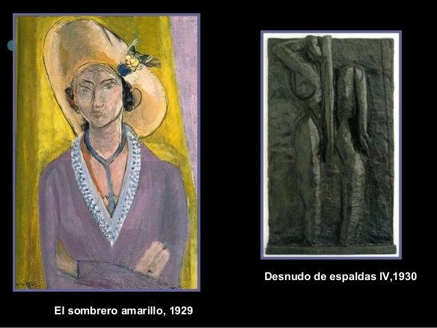 El sombrero amarillo , 1929  Desnudo de espaldas IV,1930