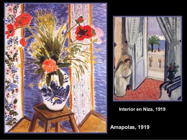 Interior en Niza, 1919  Amapolas, 1919